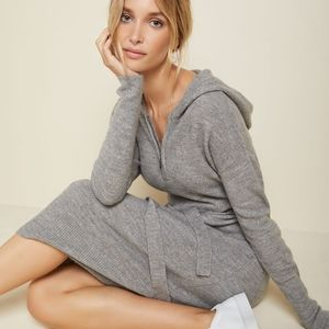 Camber & Grace hooded knit sweater dress Size S